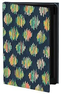 Keka SLP35-HS4-IPH4T - Holly Sinkule Designer Classic - Funda con tapa para iPhone 4 y 4S, diseño de manchas de color con líneas
