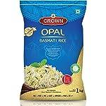 CROWN Opal Basmati Rice – Extra Long Grain Biryani Rice, 1Kg
