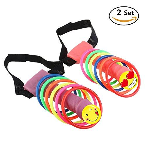 Bachelorette Party Games Supplies Headband Ring Toss Hoopla Game Set,Girls Nights Out,Hen Party Novelty Favors 2PCS (Bachelorette Novelties Party)
