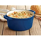Castlecreek Enameled Cast Iron 3-Liter Dutch Oven with Lid - Blue, Model# 6511