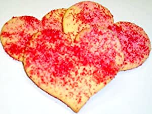 Scott's Cakes Red and Pink Sugar Heart Cookies 6lb. Box