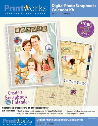 - Printworks Digital Scrapbook/Calendar Kit 8.5 x 11