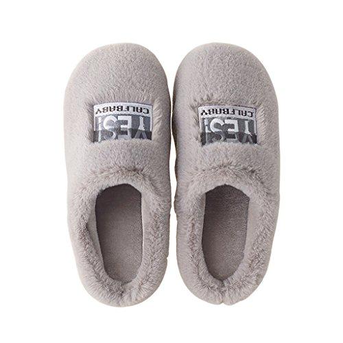 Maison Chaude Chaussures D'hiver dérapant Mâle Chaussons A À D'intérieur Pantoufles Dww Coton Anti De Épais La 40wB08
