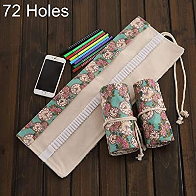 Práctico Bolígrafo Rosa de 72 Ranuras, Bolso de Lona, Estuche para lápices Envuelto y Enrollado, útiles Escolares, tamaño: 78 * 20 * 1 cm Durable: Amazon.es: Electrónica