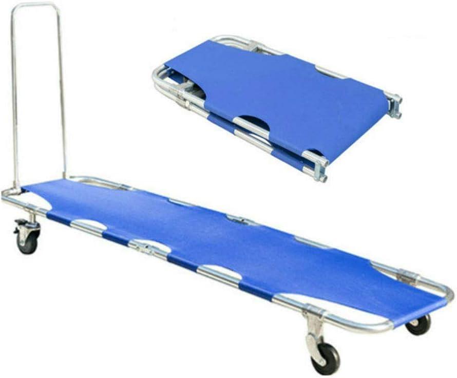 JEANN-AZCX Levantando Escaleras monopatín de Transferencia de Emergencia Silla de evacuación de Ruedas Silla de elevación médica para los Ancianos, (Plegable)