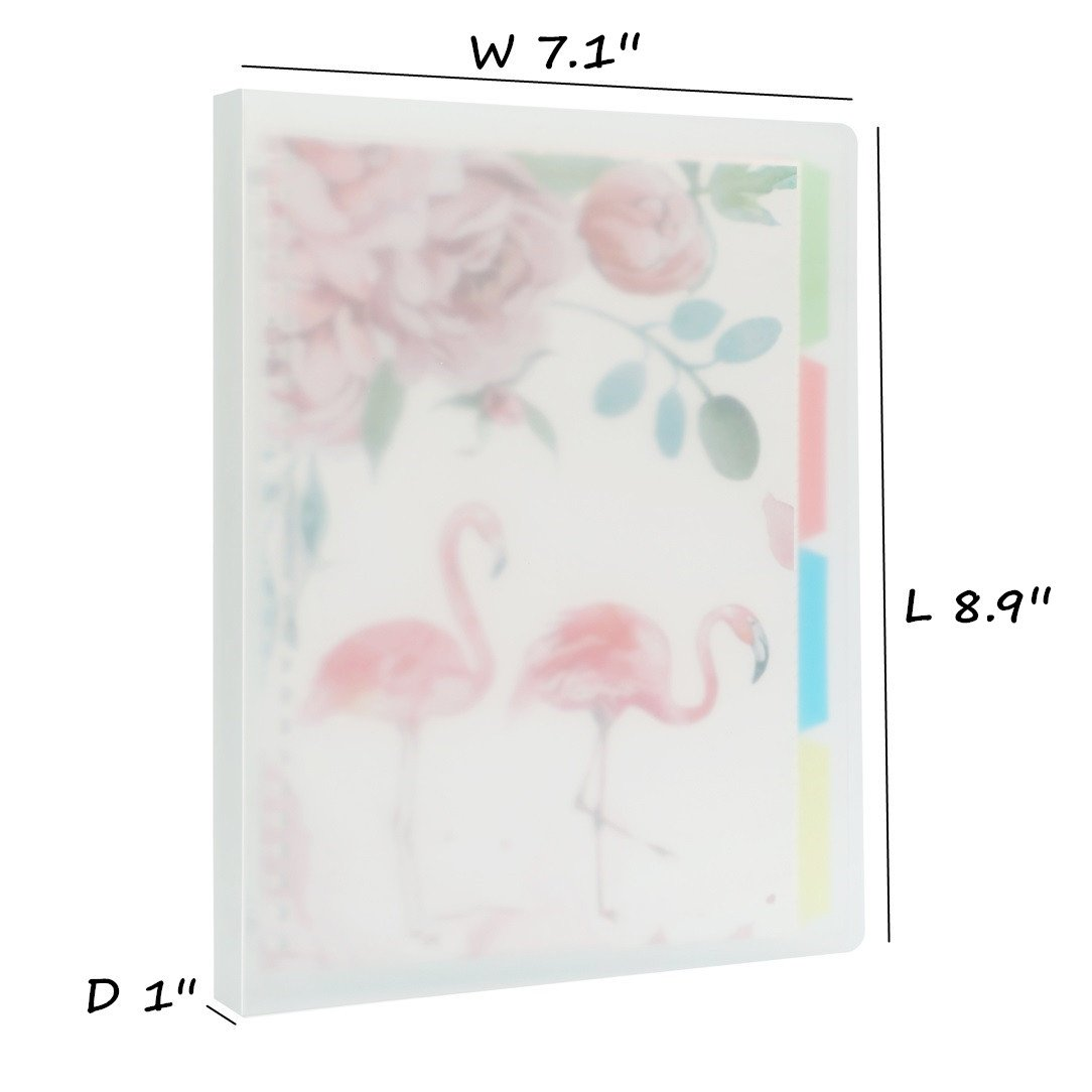 Harphia A5 Binder Refillable Notebook with 20-Rings (Flamingo, A5 8.9'' x 7.1'')
