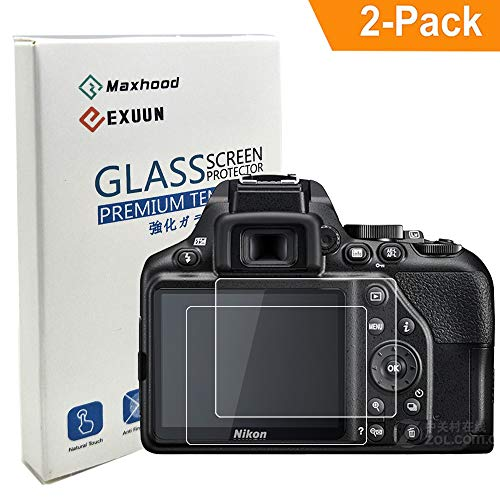 Poyiccot (2-Pack) Nikon D3500 D3400 Tempered Glass Screen Protector,[ Anti-Scratch ] [Anti-Fingerprint] 9H Hardness 0.3mm Ultra Thin Tempered Glass Screen Protector for Nikon D3500 D3400