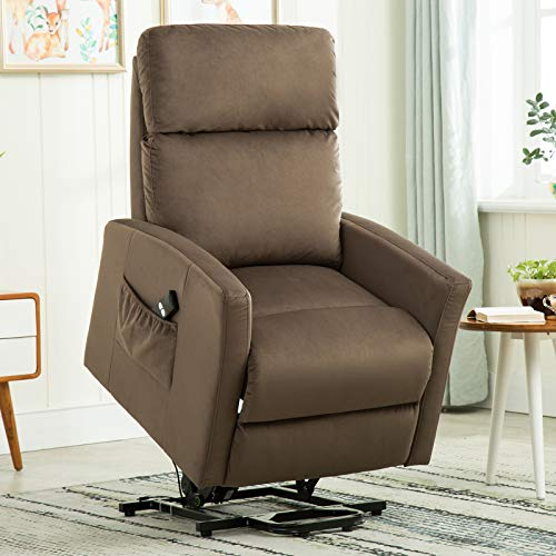ANJ Lift Chair Modern Power Lift Recliner, Light Brown