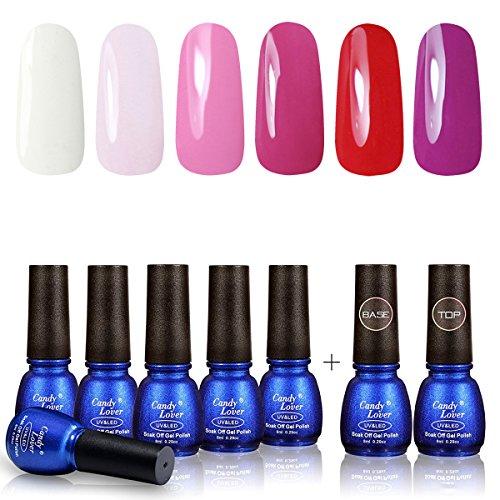 Perfect Summer Gel Nail Polish 6 Colors Gel Varnish + Top Co