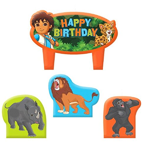 Diego's Biggest Rescue Mini Molded Cake Candles, Birthday ()