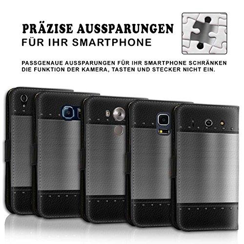 Wallet Book Style Flip Handy Tasche Case Schutz Hülle Schale Motiv Etui für Apple iPhone 5 / 5S - Design Flip MVD146