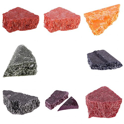 Irregular Candle Dye Chips Blocks Natural Plant Pigment for DIY Candle Coloring Pink
