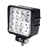 "SiteLites Single 4"" LED Light 48W 3000LM 30° White LED Spot Beam Light Heads for Off-Road and Outdoor Applications"