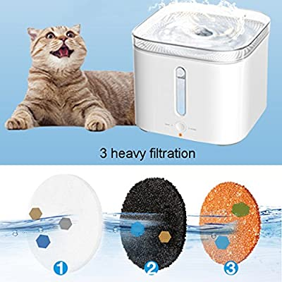 PLDDY Fuente de agua para mascotas Dispensador de agua de ciclo ...