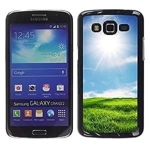 Smartphone Rígido Protección única Imagen Carcasa Funda Tapa Skin Case Para Samsung Galaxy Grand 2 SM-G7102 SM-G7105 Sunny scenery / STRONG