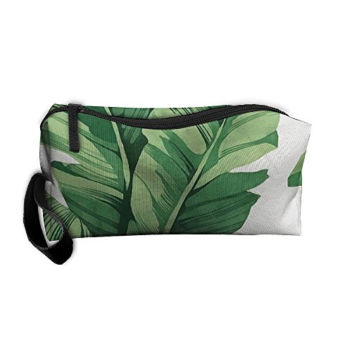 Coin Pouch Banana Leaves Pen Holder Clutch Wristlet Wallets Purse Portable Storage Case Cosmetic Bags Zipper