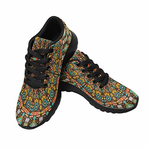 InterestPrint Round Aztec Geometric Pattern Womens Jogging Running Sneaker Lightweight Go Easy Walking Shoes Multi 1 zOGxEnFHUf