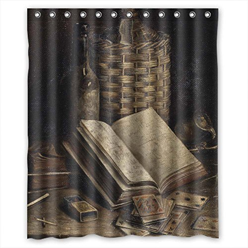 MaSoyy Width X Height / 60 X 72 Inches / W H 150 By 180 Cm Polyester Classic Still Life Art Painting Bathroom Curtains Fabric Is Fit For Hotel Wife Her Kids Girl Valentine. Modern Design