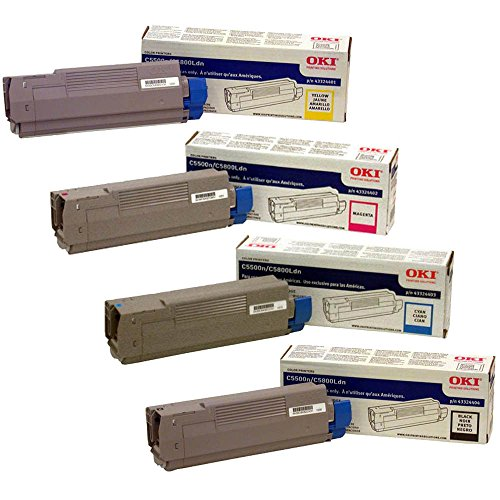 43324403 High Yield Toner (OKIdata 43324404, 43324403, 43324402, 43324401 High Yield Toner Cartridge Set)