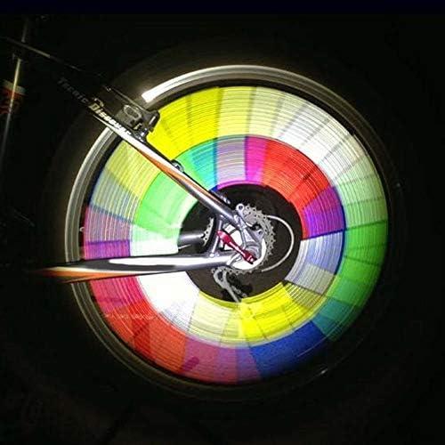 [해외]12 개 세트 자전거 빛 반사 클립 미등 휠 라이트 6 색 야간 안전 경고 라이트 사고 예방 간편 장착 방수 / 12pcs Set Bicycle Light Reflective Clip Tail Light Wheel Light 6 Colors Night Safety Warning Light Accident Prevention Easy Install...