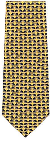 Men's 100% Silk Mini Turtle Repeat Tie ()
