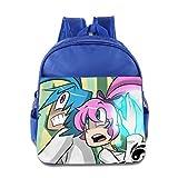 Kids Yin Yang Yo School Backpack Funny Baby Boys Girls School Bags RoyalBlue