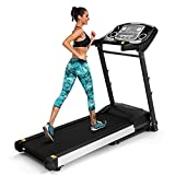 Folding Electric Treadmill Touch Screen Motorized Running Machine with MP3 Bluetooth App and Heart Rate Monitor US STOCK