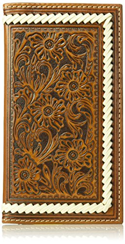 Ariat Edge Floral Unisex Tope Brown Unisex Floral Wallet Stitch Ariat Tope Rodeo rwnqUrO04