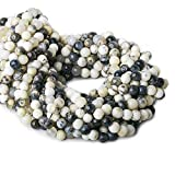 5-6mm Dendritic Opal Plain Round Beads 13 inch 54