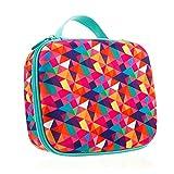 ZIPIT Colorz Jumbo Large Storage Box, Colorful Triangles