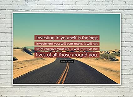 Posterskart Investing In Yourself Motivational Quote Poster For Room