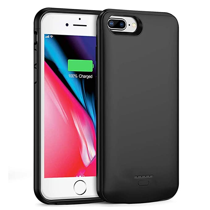 newest 419db 27ae6 iPhone 7 Plus /8 Plus Battery Case, SNSOU 5500mAh Portable Charger Case  Ultra-Thin Rechargeable Extended Battery Pack Protective Backup Charging  Case ...