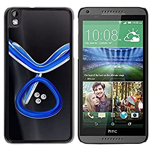 LECELL -- Funda protectora / Cubierta / Piel For HTC DESIRE 816 -- Abstract Blue --
