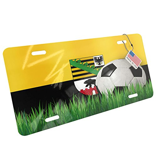Metal License Plate Soccer Team Flag Sachsenanhalt region Germany - Neonblond by NEONBLOND