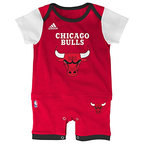 "NBA Chicago Bulls Newborn ""Fan Jersey"" Jersey Romper, Red, 3-6 Months"