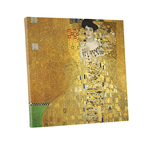 Niwo ART (TM) - Portrait of Adele Bloch Bauer I, by Gustav Klimt, Oil painting Reproduction - Giclee Wall Art for Home Decor, Gallery Wrapped, Stretched, Framed Ready to Hang (24