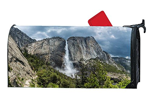 Decorative Magnetic Mailbox Yosemite Travel Falls Design,Surrounds all 6.5'' x 19'' standard or traditional size mailboxes by Mailboxcoverfhiw