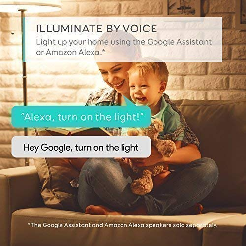 eufy Lumos Smart Bulb by Anker- White, Soft White (2700K), 9W, Works with Amazon Alexa and Google Assistant, No Hub Required, Wi-Fi, 60W Equivalent, Dimmable LED Light Bulb, A19, E26, 800 Lumens by eufy (Image #1)