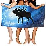 tuRS-sheng Moose No-Show Fashion Over-Sized Beach Bath Towels