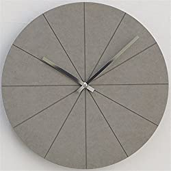 Simple Silent Wall Clock Living Room Fashion Creative Individual Household Round Watch, Gray