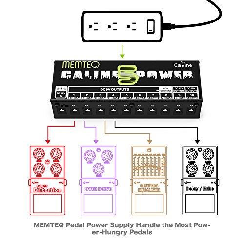 guitar pedal power supply memteq 10 isolated dc output for 9v 12v 18v effect pedal with. Black Bedroom Furniture Sets. Home Design Ideas