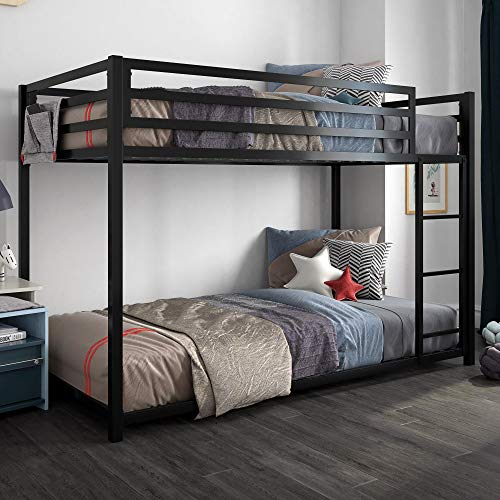 DHP 4303019 Miles Twin Metal Bunk Bed, Kid's Bedroom, Space-Saving Design, - Bed Wide Bunk Bedroom