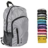 Golyte Lightweight Packable Travel Hiking Backpack Daypack Gear Gray Foldable with iPad Laptop Pocket