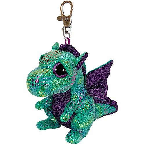"Ty Beanie Boos Cinder the Green Dragon Clip 3"" Keychain"