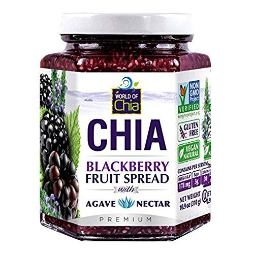 World Of Chia Spread Blackberry Agav, 10.9 oz by World of Chia