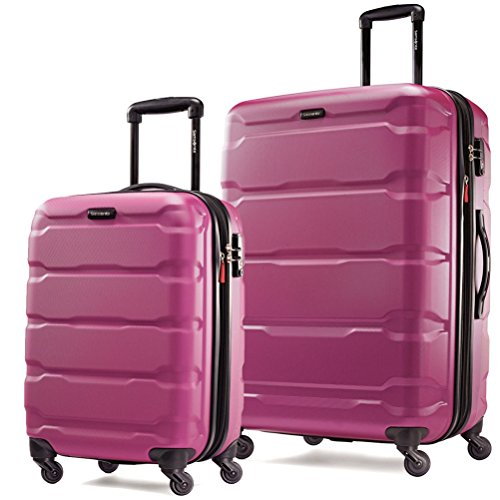 Samsonite Omni PC 2 Piece Set of 20 and 28 Spinner (Radiant Pink)