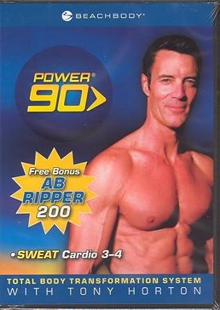 Amazon com: Tony Horton Beachbody Power 90 Sweat Cardio 3-4