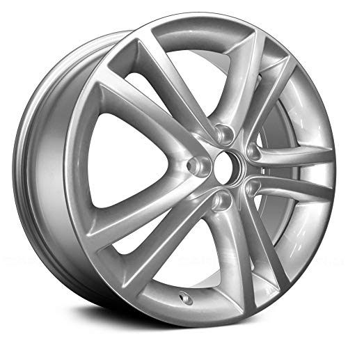 (Replacement 5 Double Spokes Bright Hyper Silver Full Face Factory Alloy Wheel Fits Dodge Avenger )