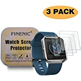 FINENIC HD Clear 9H Hardness Multi-layer Explosion-proof Tempered Glass Screen Protector for Fitbit Blaze Smart Watch Anti-Bubble (3-Pack)