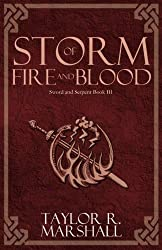 Where there is fire, there will be blood. Tossed on a ship bearing him to the icy northern reaches of Britannia, Jurian dreams of a mysterious woman and a sword driven into a stone. Kneeling in the candlelight in Cyrene, Sabra hears the whisper of th...
